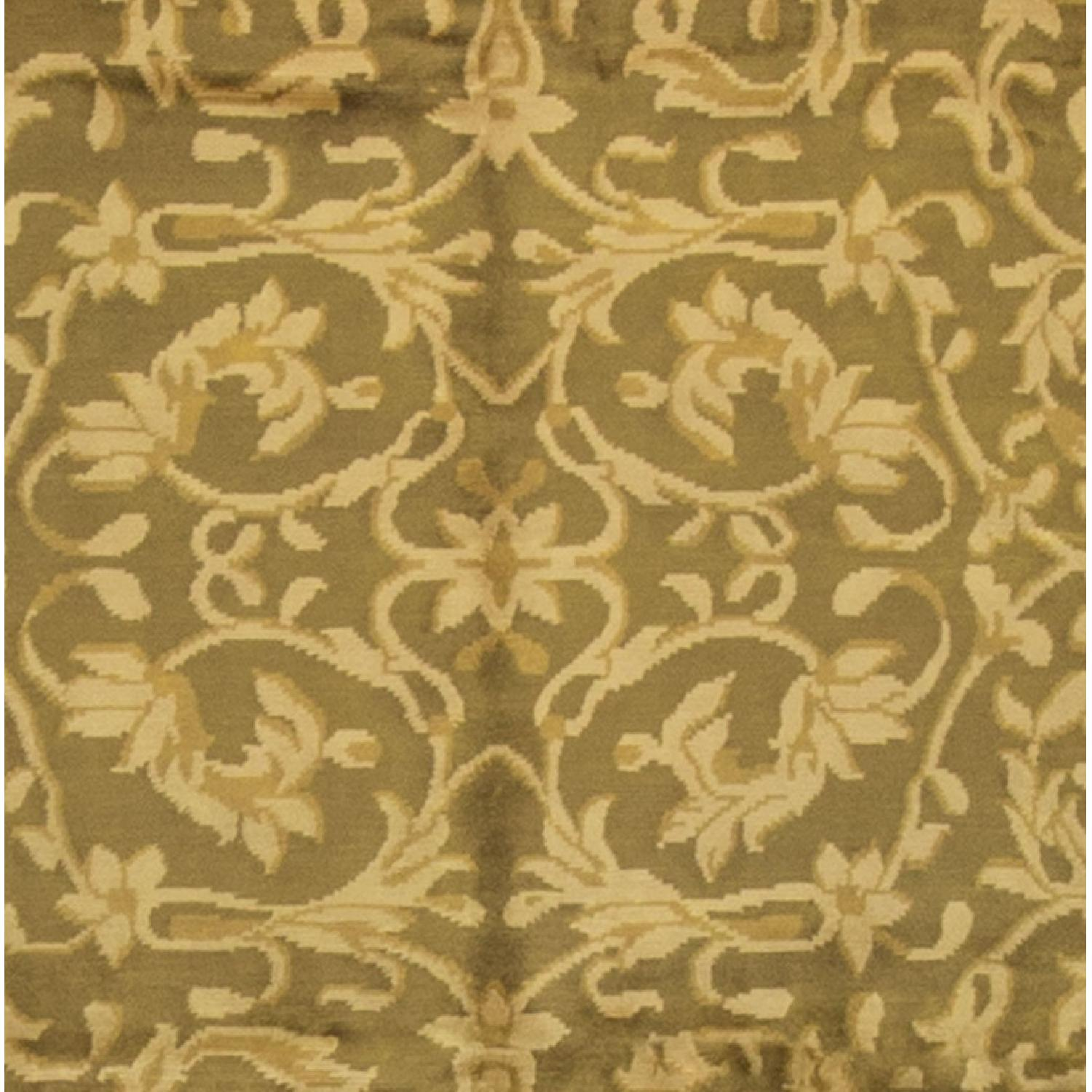 Modern Contemporary Hand Knotted Wool Rug in Gold - image-1