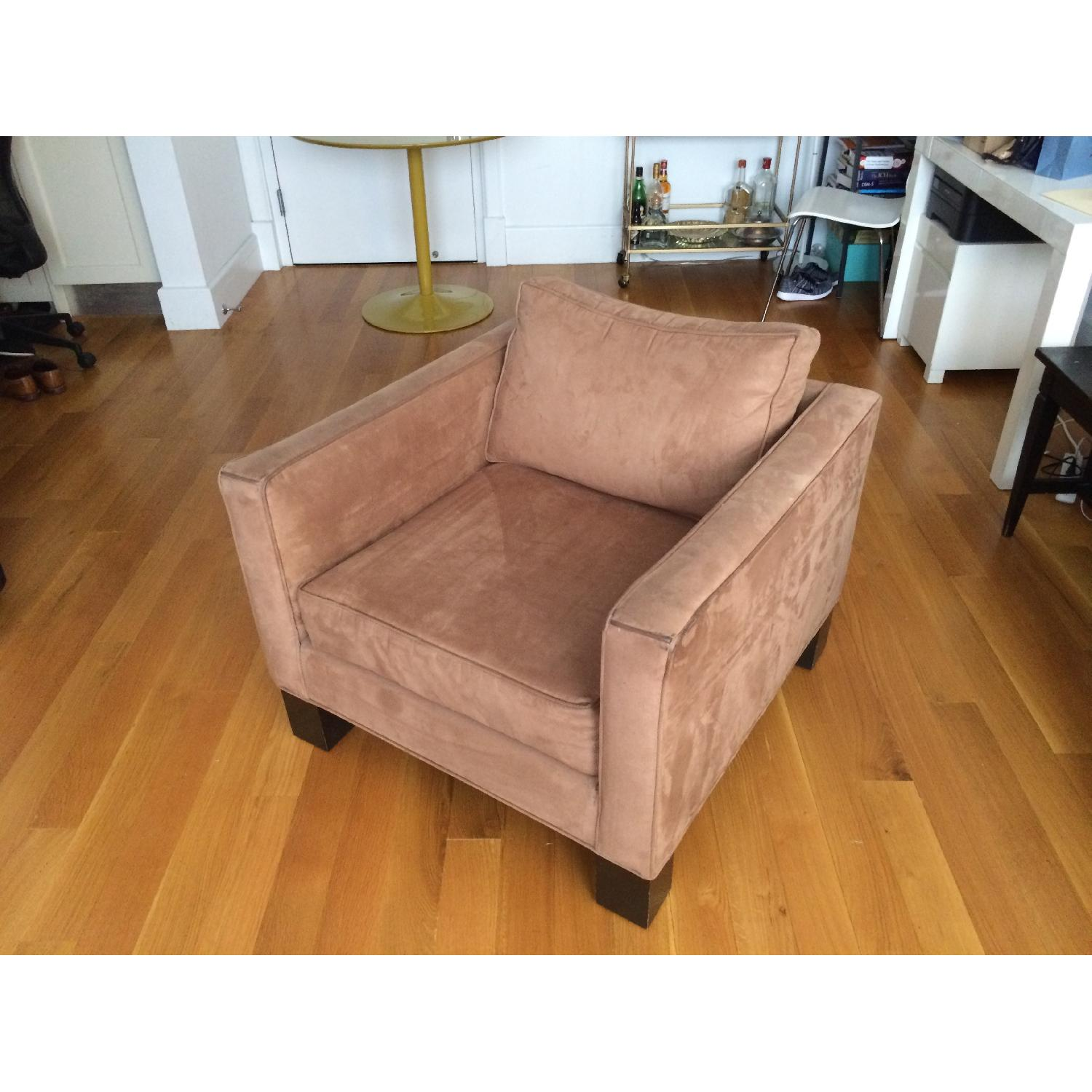 Brown Microsuede Accent/Armchair - image-1