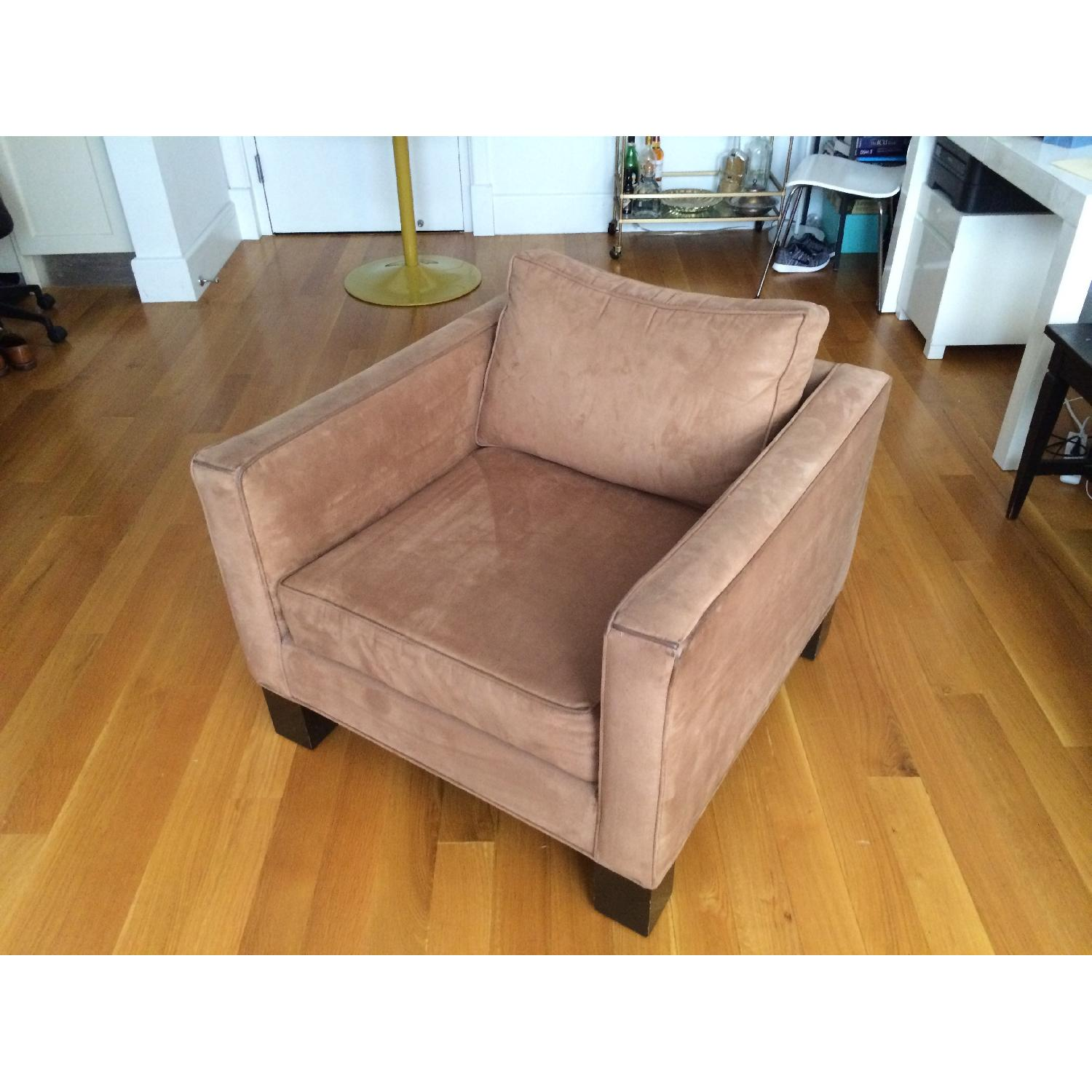 Brown Microsuede Accent/Armchair - image-2