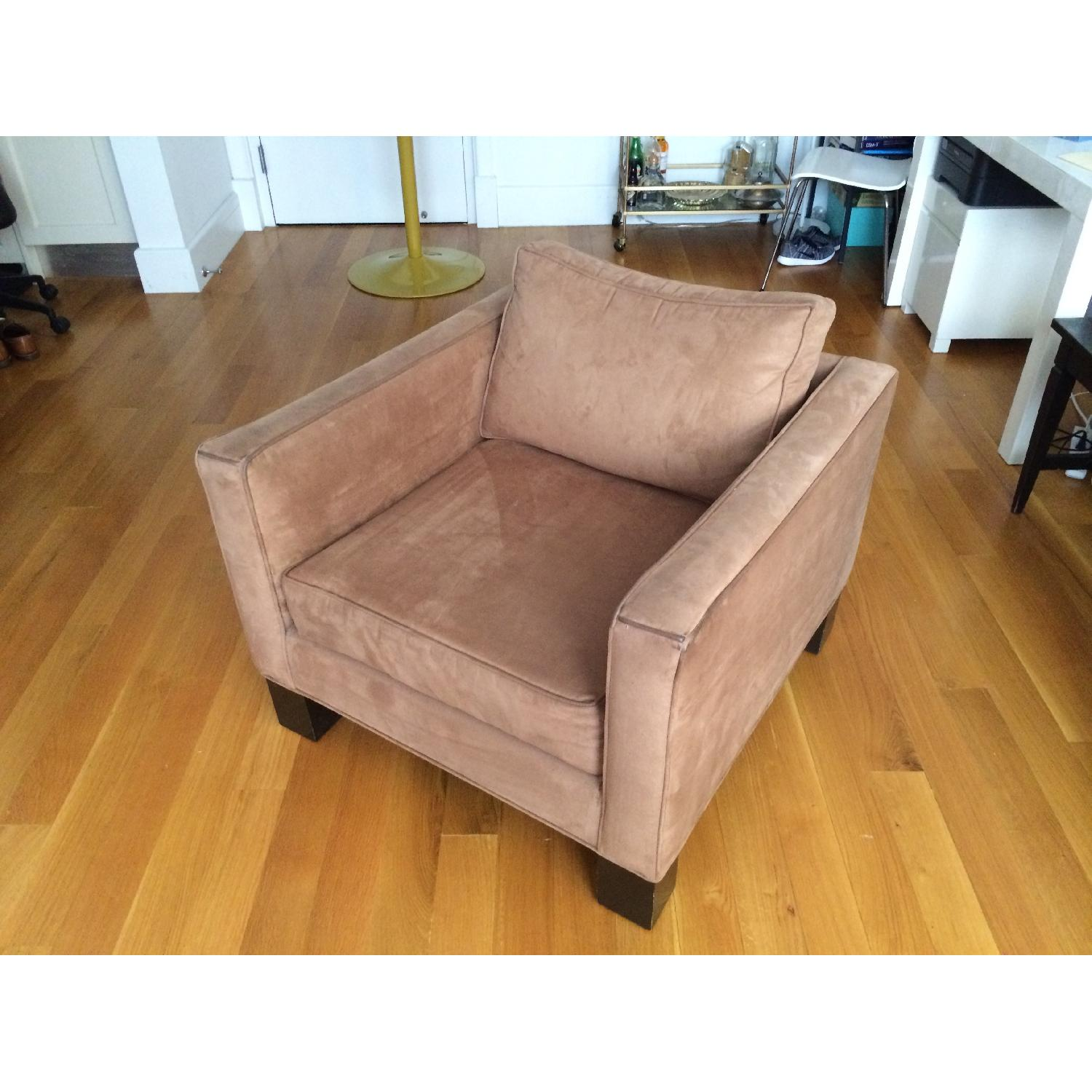 Brown Microsuede Accent/Armchair - image-3