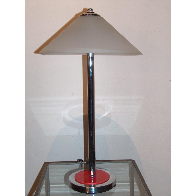 1970.s George Kovacs Chrome & Acrylic Table Lamp - image-1