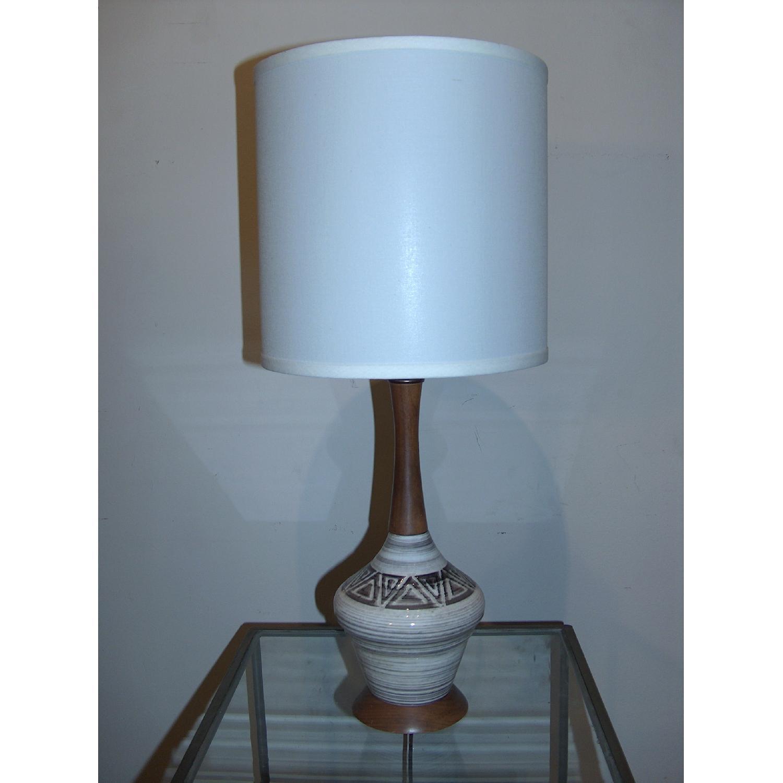 Mid Century Original Ceramic Table Lamp - image-1
