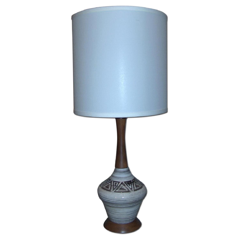 Mid Century Original Ceramic Table Lamp - image-0