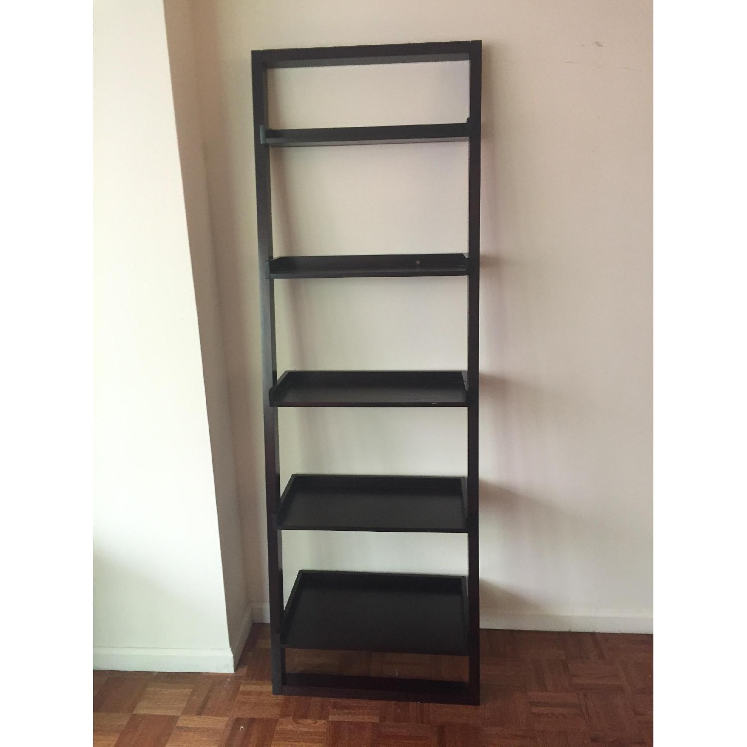 Crate & Barrel Leaning Bookcase - image-1