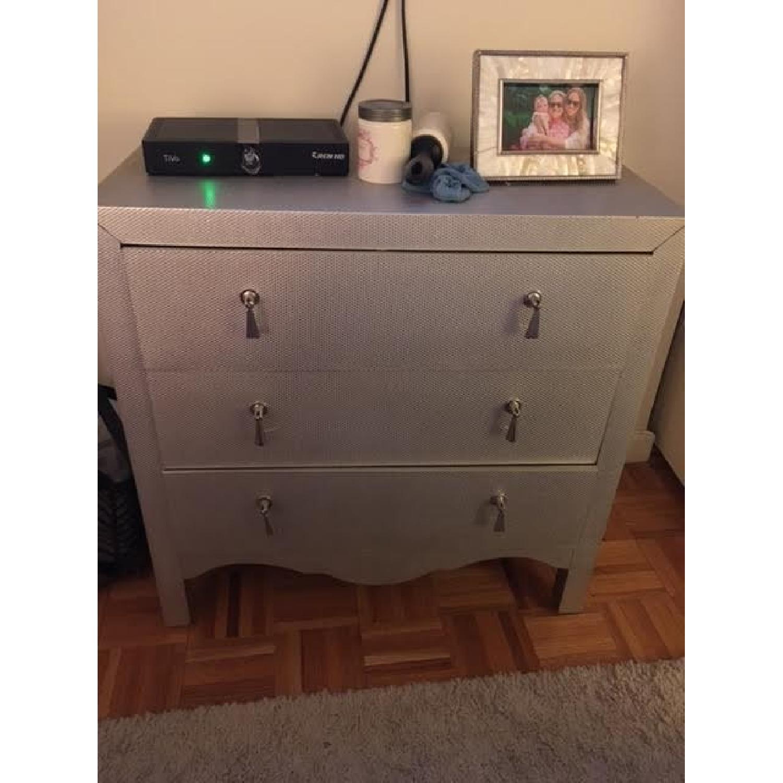 Wayfair Silver/Grey Textured Chest/Dresser - image-1