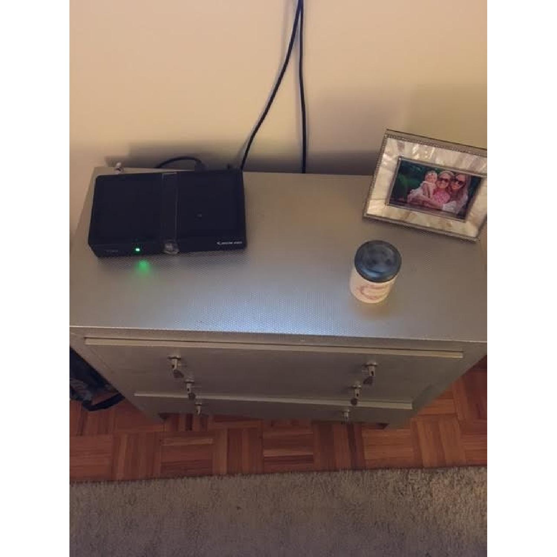Wayfair Silver/Grey Textured Chest/Dresser - image-4