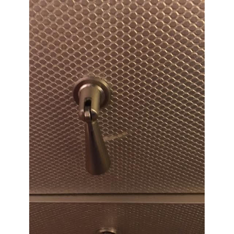 Wayfair Silver/Grey Textured Chest/Dresser - image-5