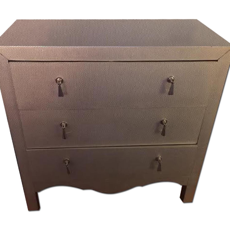 Wayfair Silver/Grey Textured Chest/Dresser - image-0