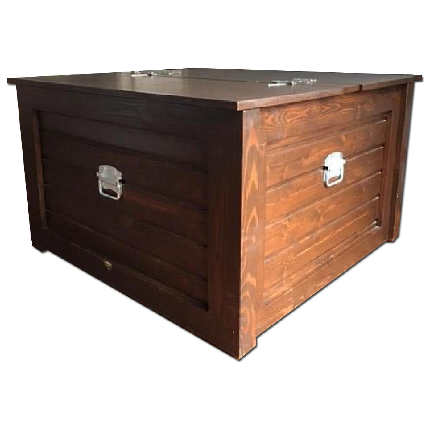 Gothic Cabinet Craft Coffee Table Storage Trunk - image-0