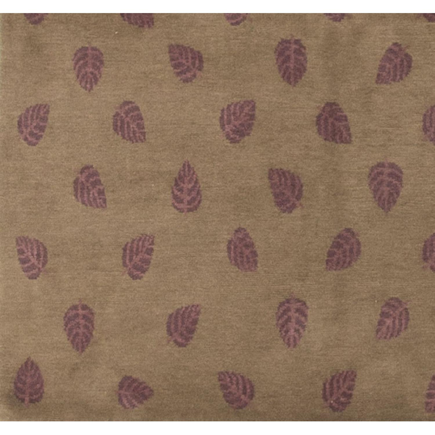 Modern Contemporary Hand Knotted Wool Rug in Brown/Red - image-3