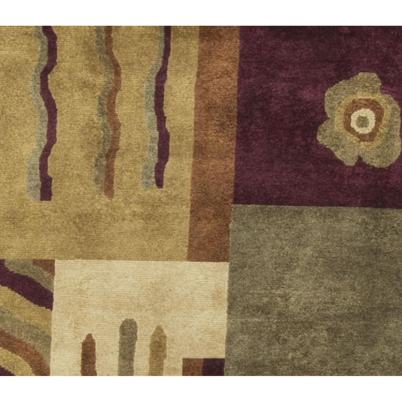 Modern Contemporary Hand Knotted Wool Rug in Beige/Brown/Dark - image-2