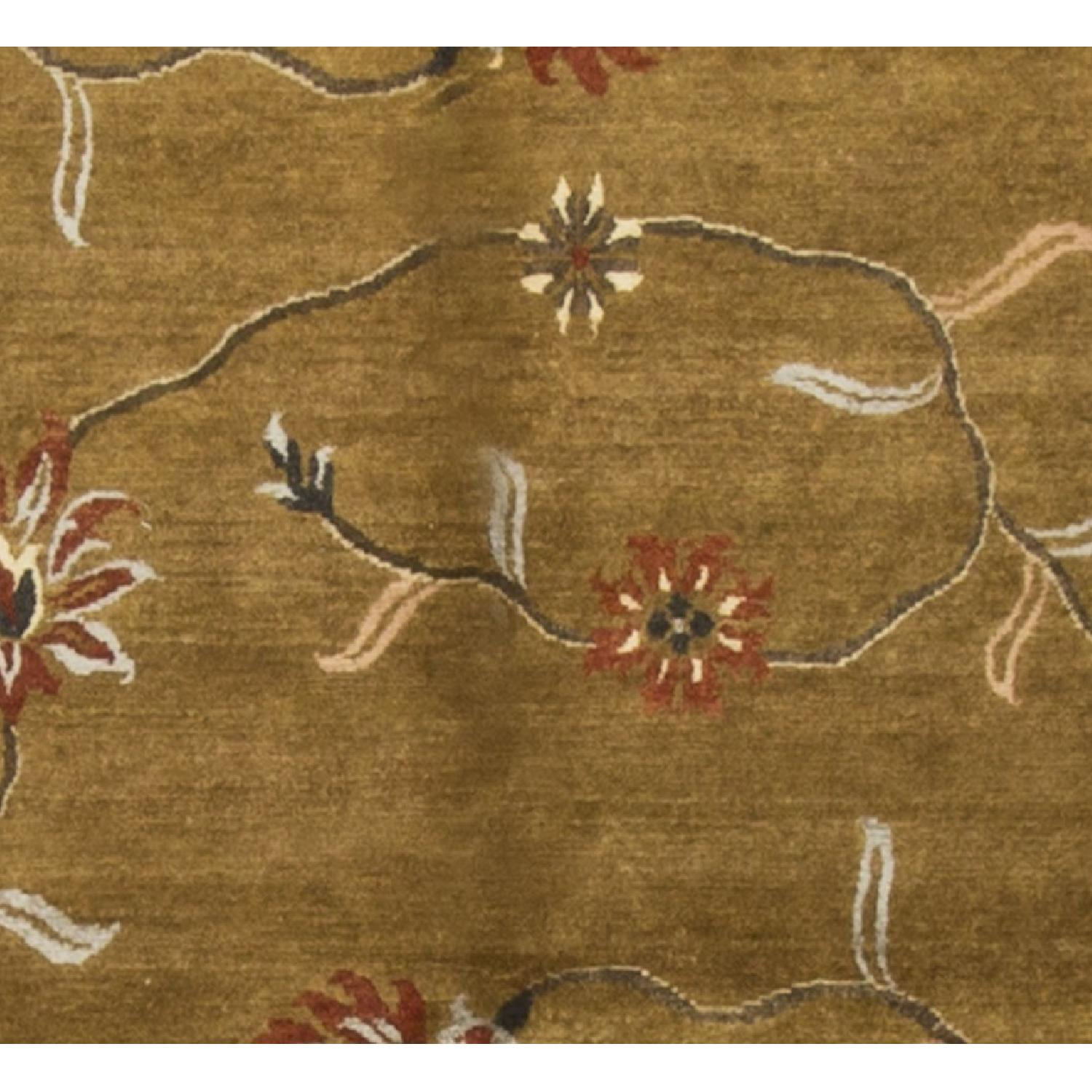Modern Contemporary Hand Knotted Wool Rug in Gold/Multi - image-2