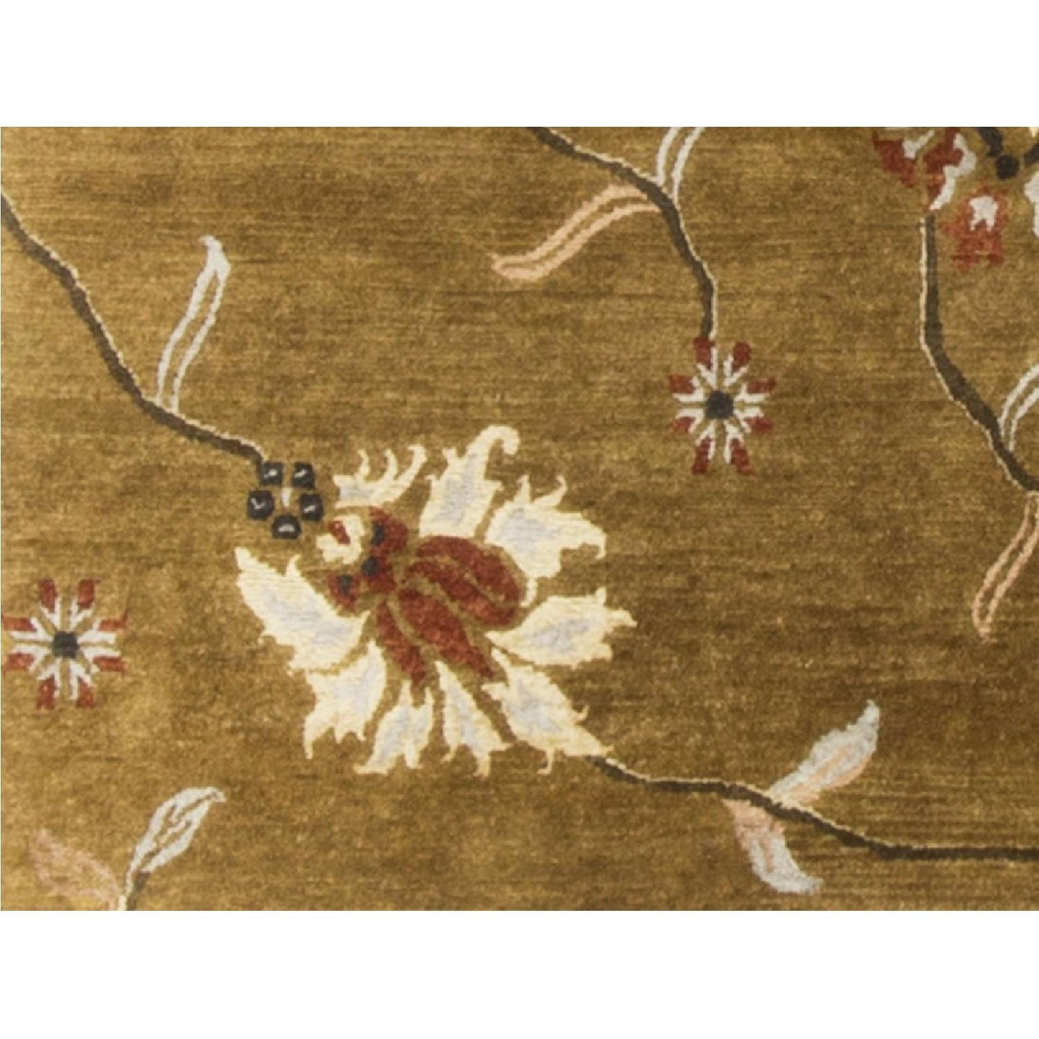 Modern Contemporary Hand Knotted Wool Rug in Gold/Multi - image-3