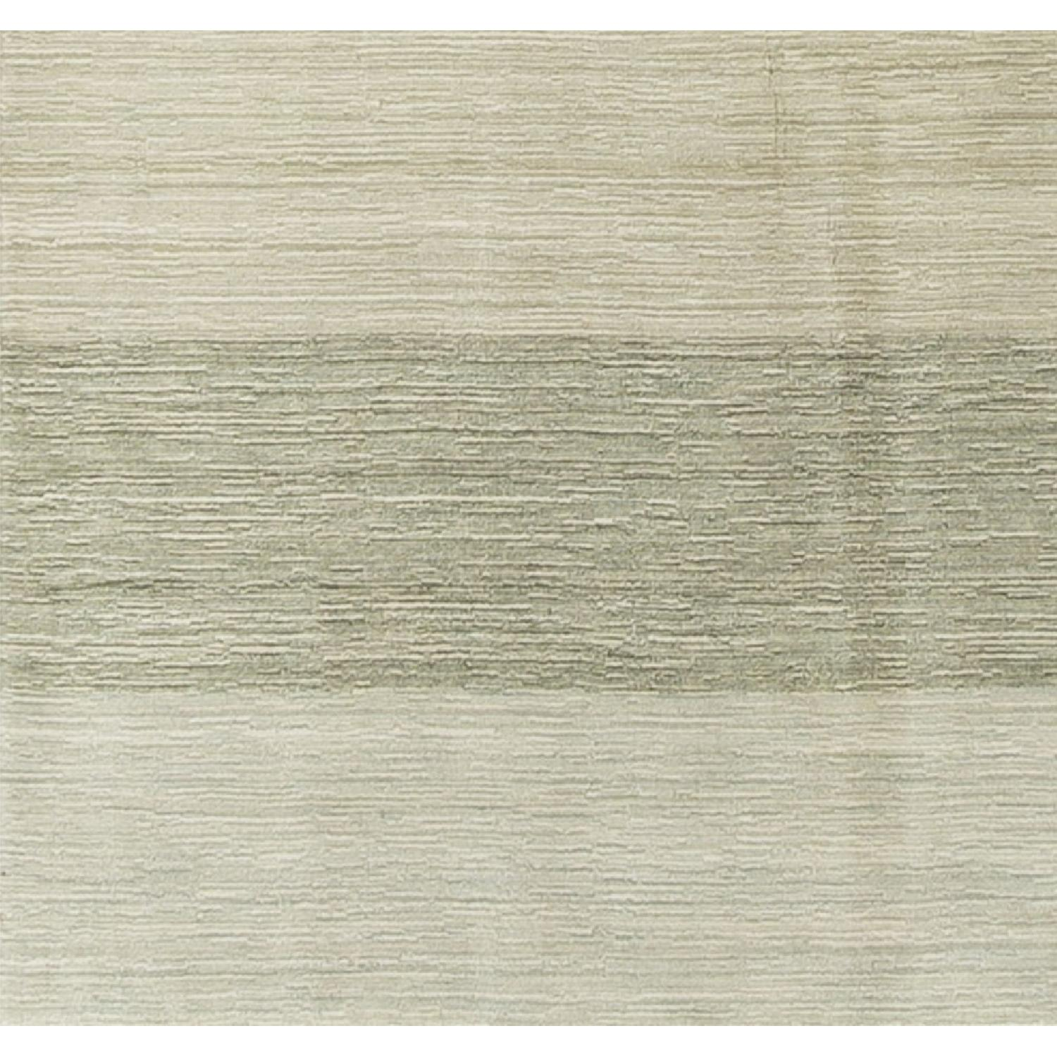 Modern Contemporary Hand Knotted Wool Rug in Beige/Red/Green - image-3