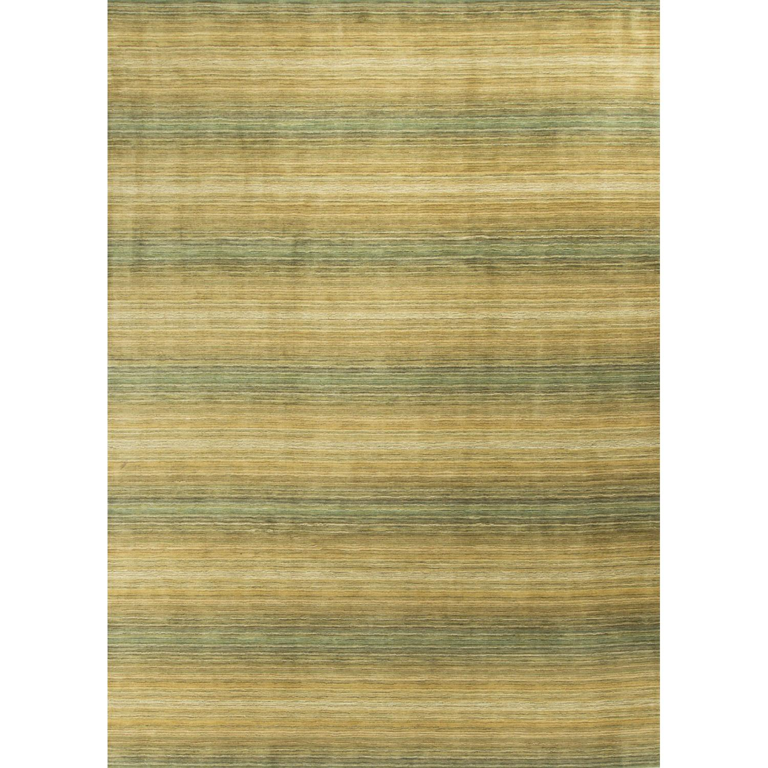 Modern Contemporary Hand Knotted Wool Rug in Beige/Green - image-0