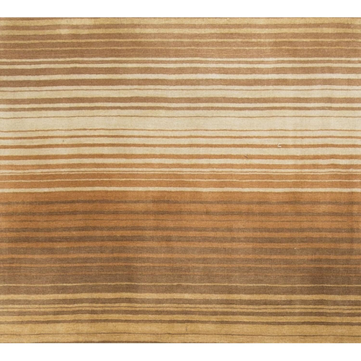 Modern Contemporary Hand Knotted Wool Rug in Brown - image-0