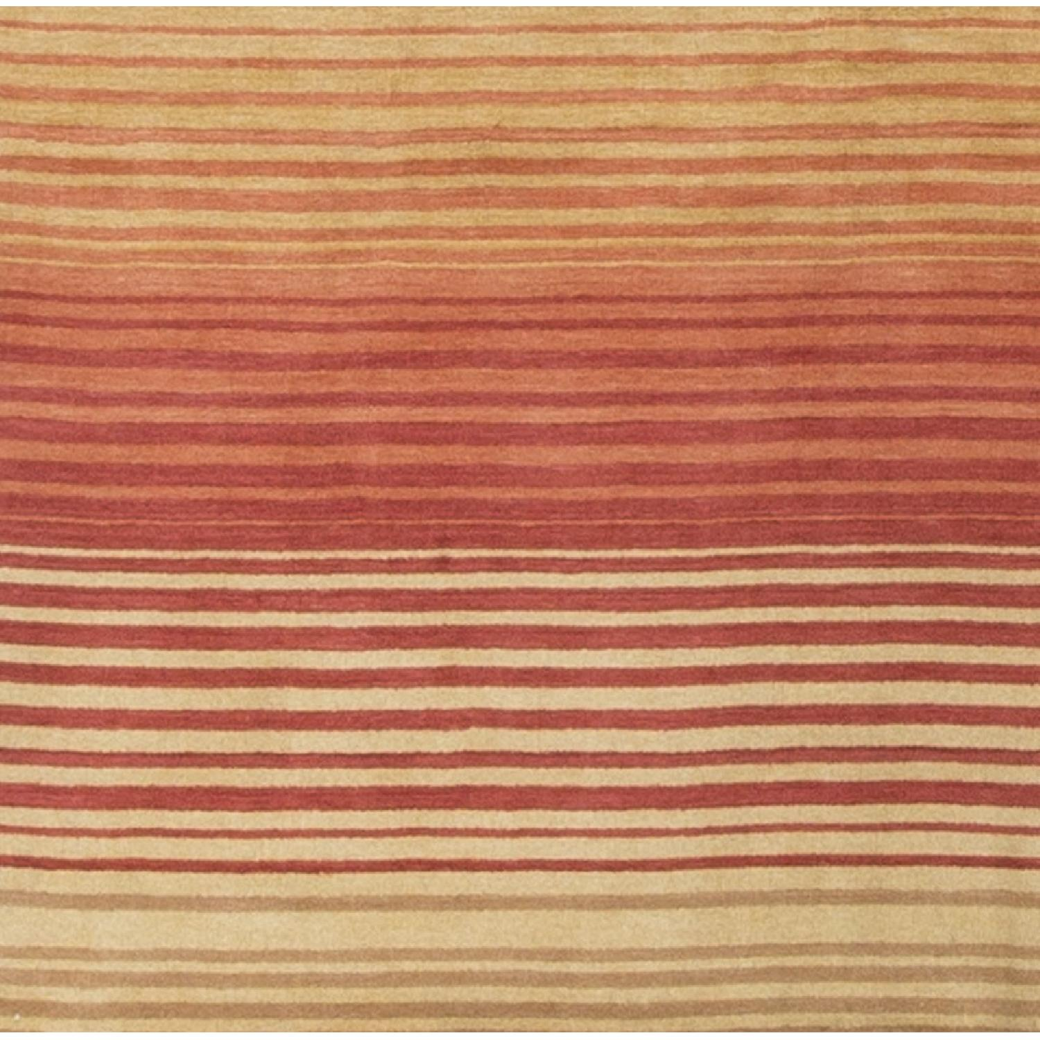 Modern Contemporary Hand Knotted Wool Rug in Brown - image-2
