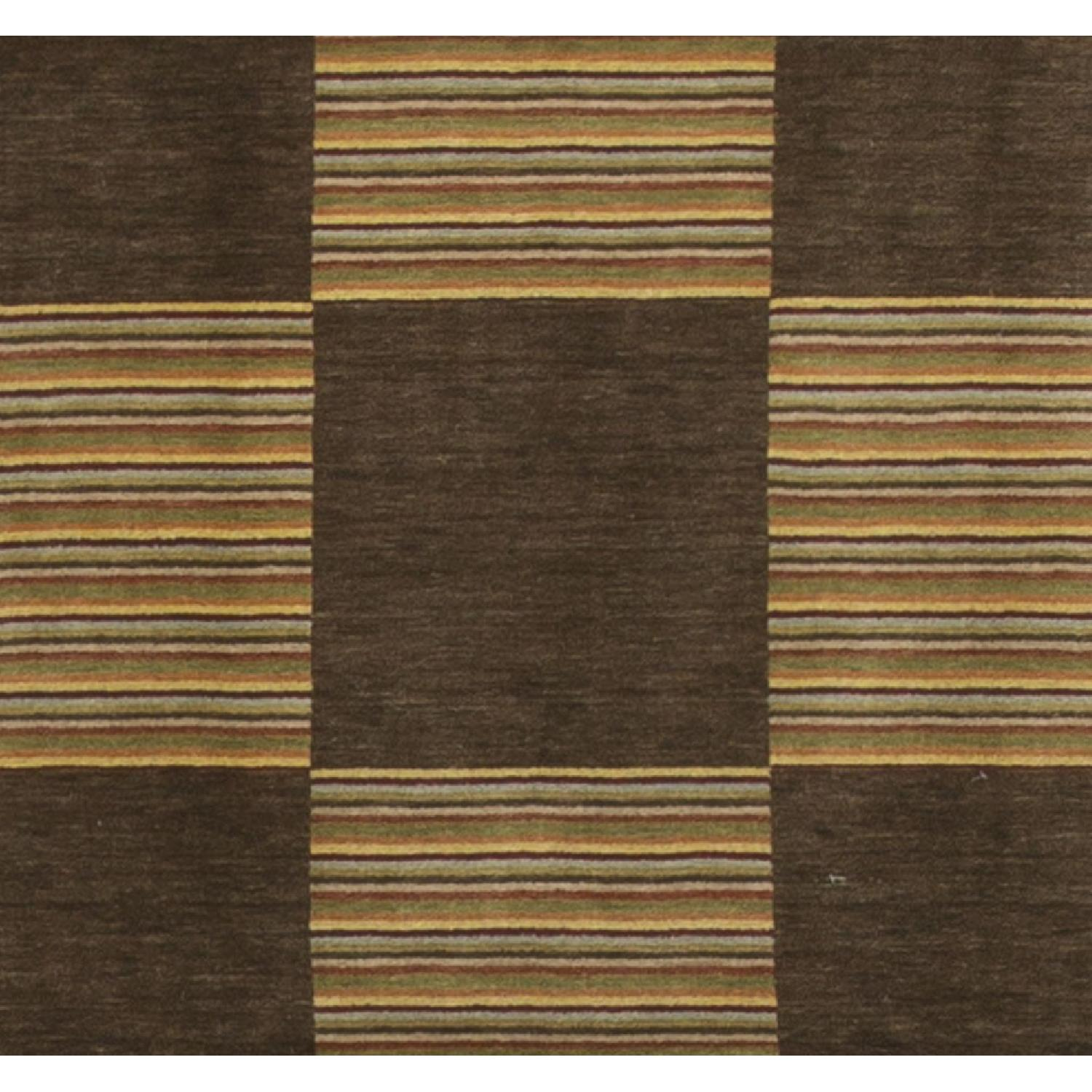 Modern Contemporary Hand Knotted Wool Rug in Brown/Beige - image-2