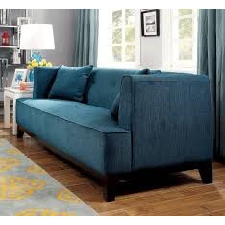 Furniture of America Sofia Dark Teal Sofa - image-2