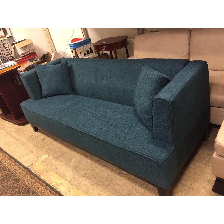 Furniture of America Sofia Dark Teal Sofa - image-3