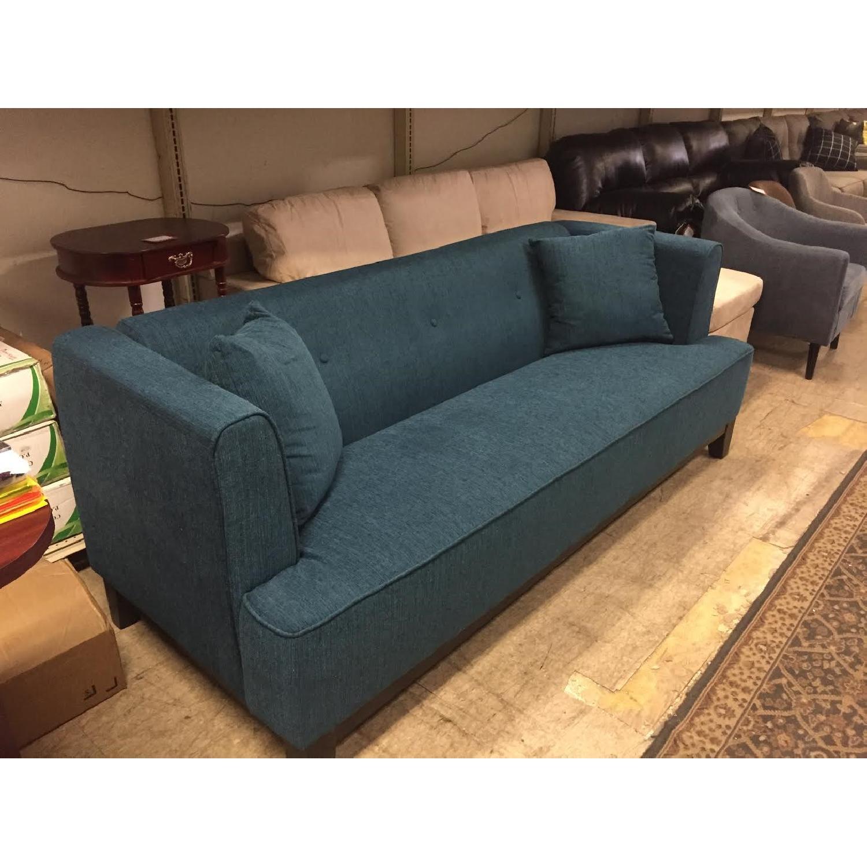 Furniture of America Sofia Dark Teal Sofa - image-4