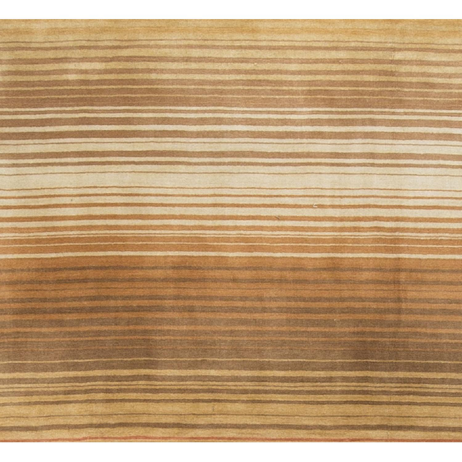 Modern Contemporary Hand Knotted Wool Rug in Soft Pastels - image-2