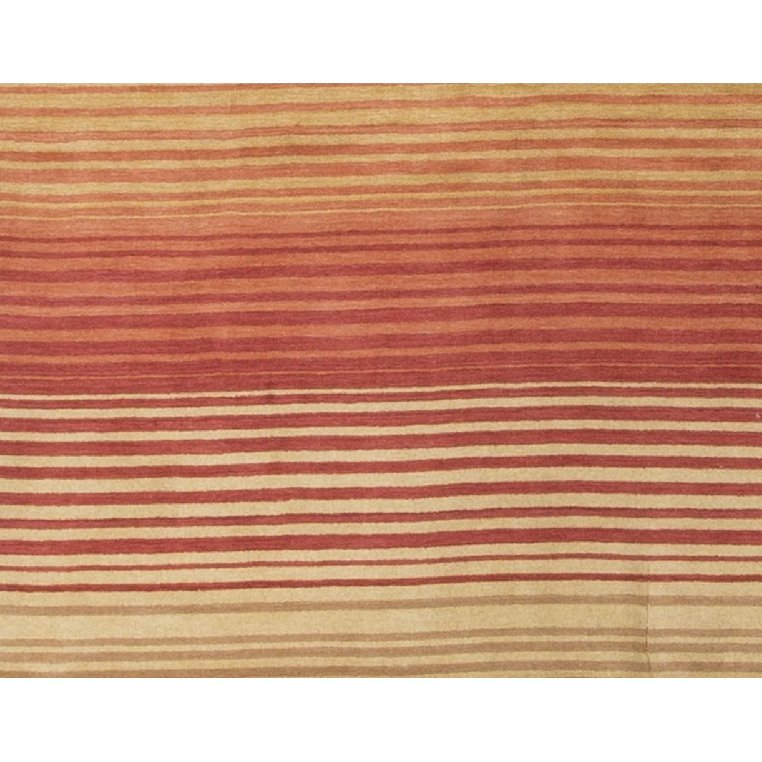 Modern Contemporary Hand Knotted Wool Rug in Soft Pastels - image-3