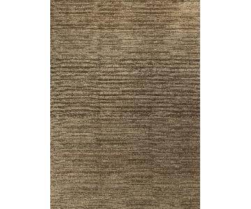 Modern Contemporary Hand Knotted Wool Rug in Brown