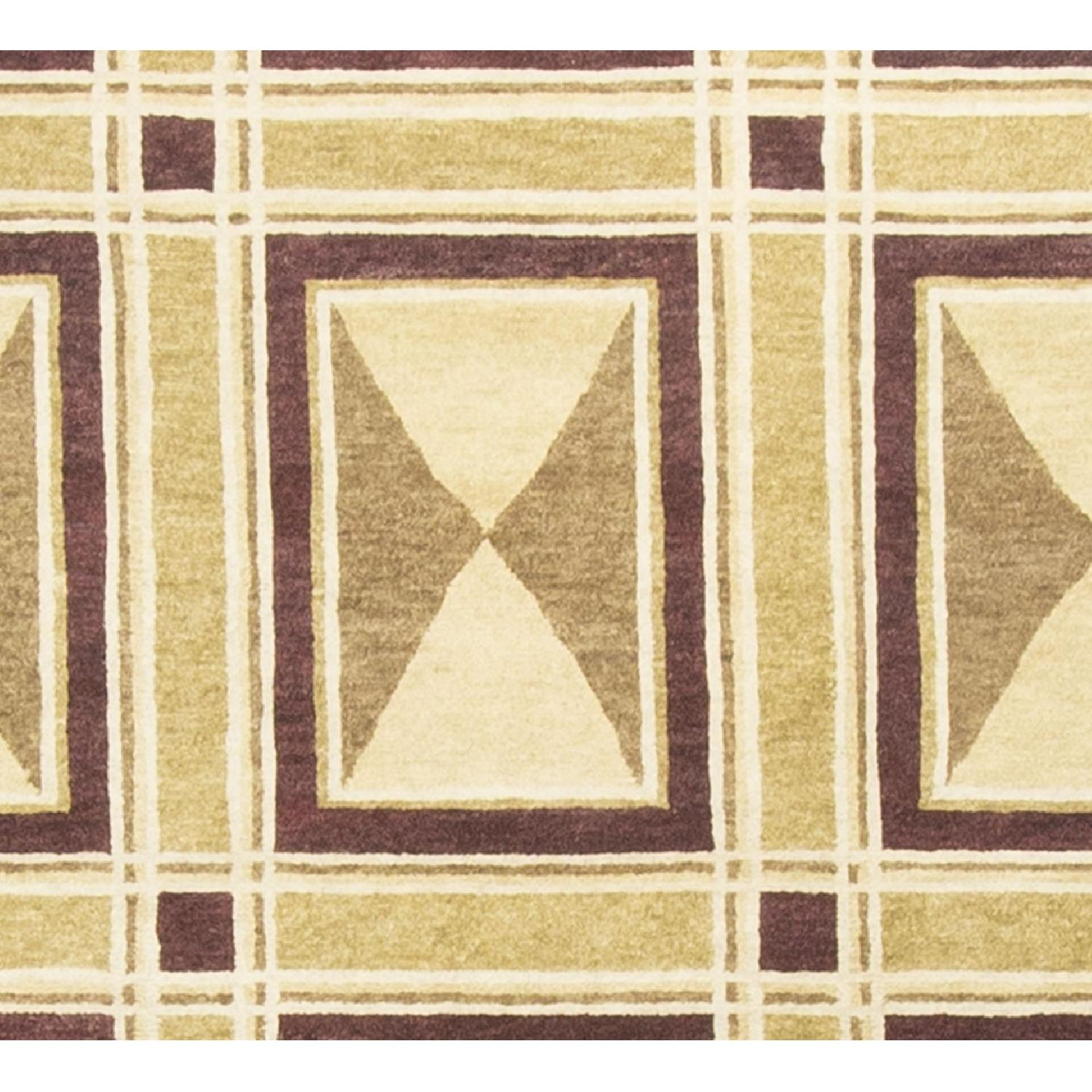 Modern Contemporary Hand Knotted Wool Rug in Multi Colors - image-2