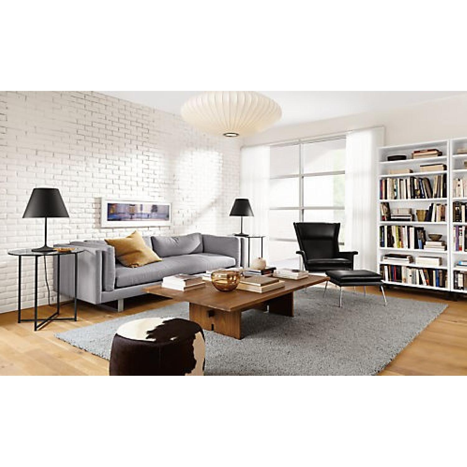 Room & Board Lind Cowhide Round Ottomans - image-1