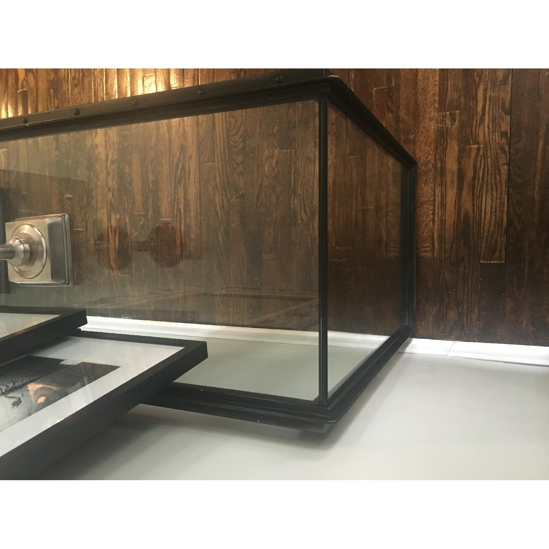 Restoration Hardware Waterfall Glass & Iron Console Table - image-6