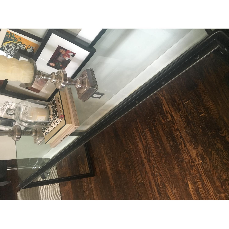 Restoration Hardware Waterfall Glass & Iron Console Table - image-7