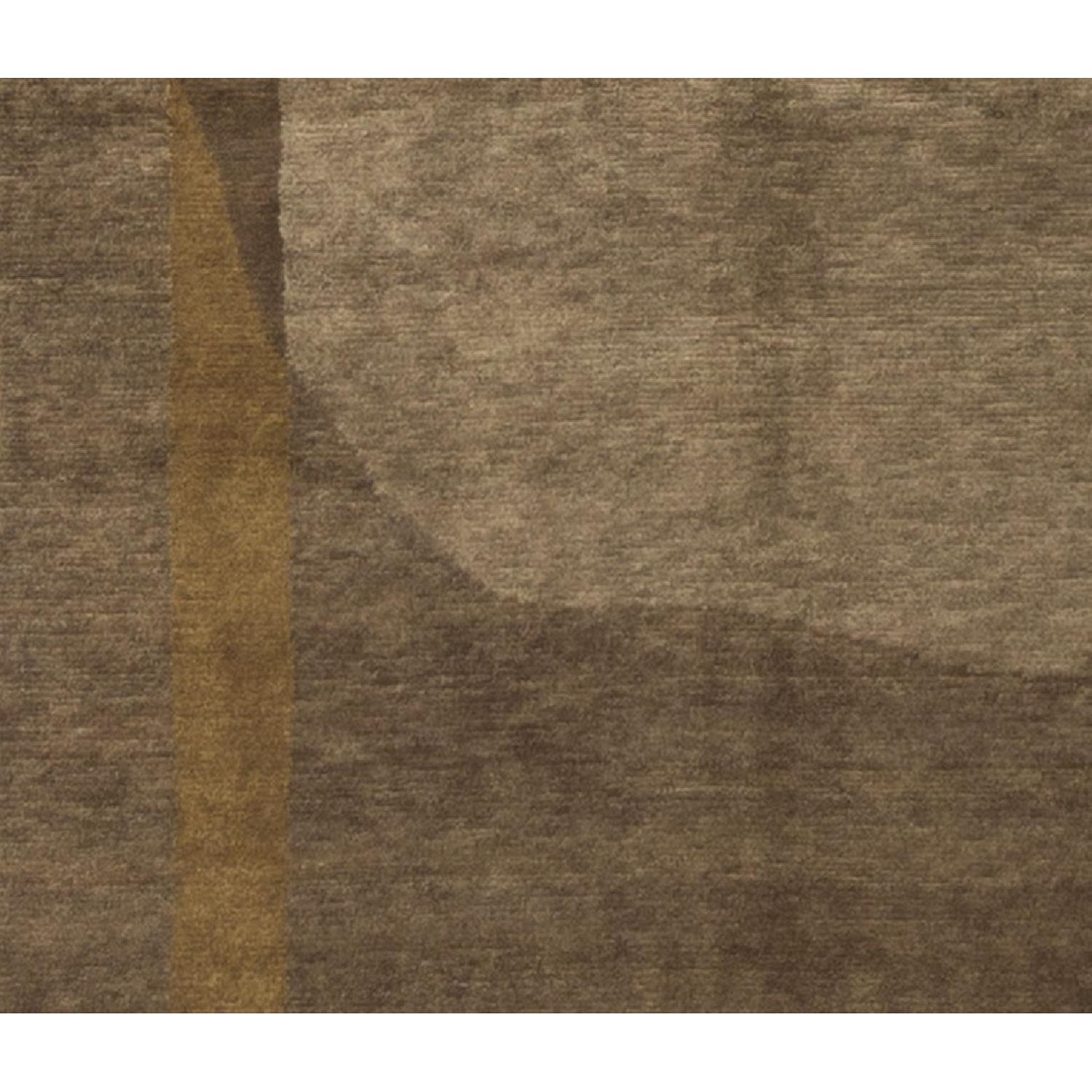 Modern Contemporary Hand Knotted Wool Rug in Brown/Beige - image-3