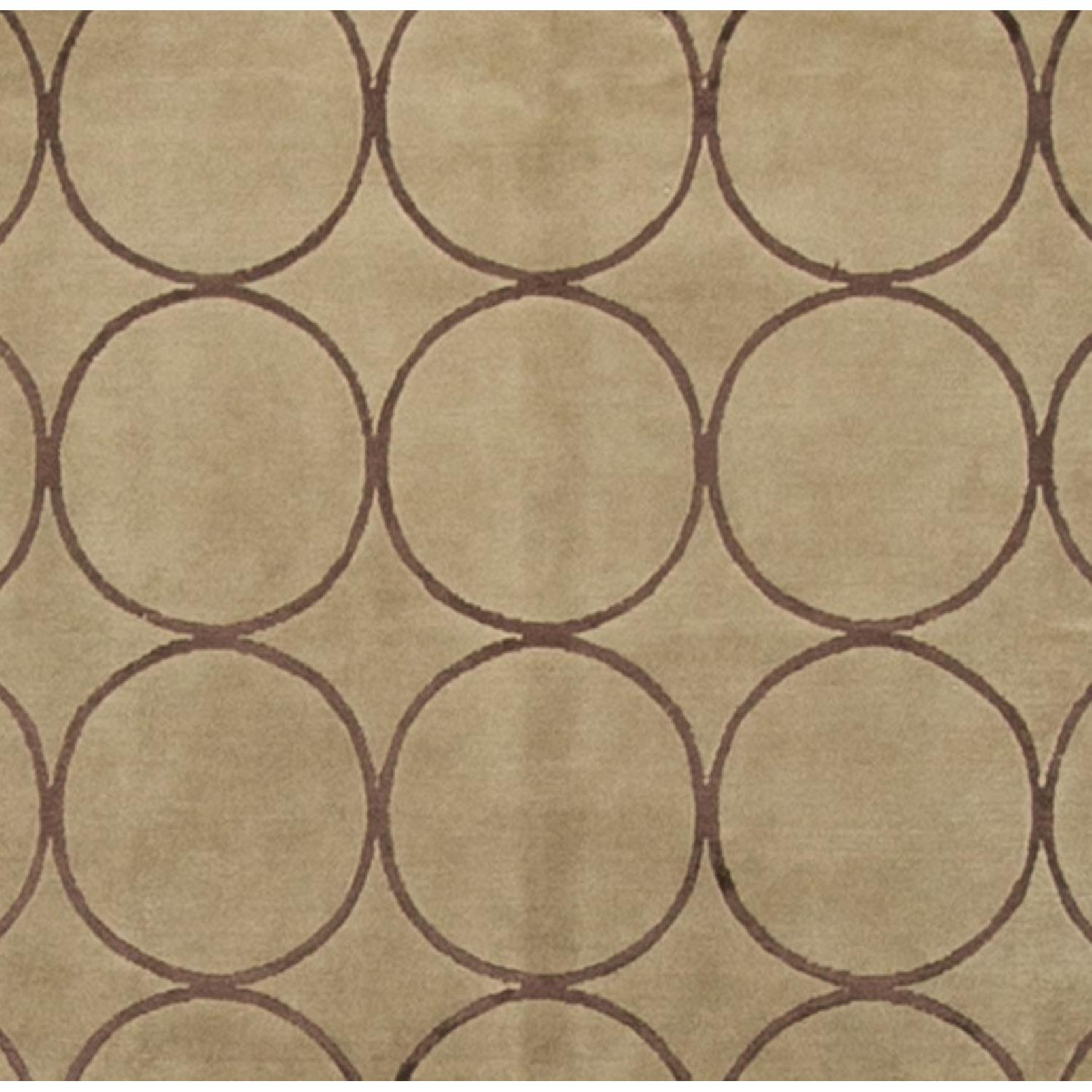 Modern Contemporary Hand Knotted Wool Rug in Brown/Red - image-2