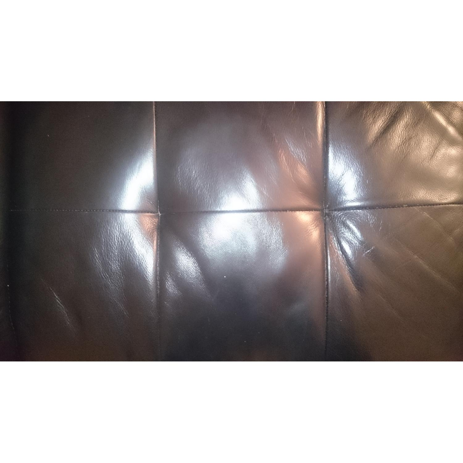 J&M Furniture Black Italian Leather Sectional Couch - image-5