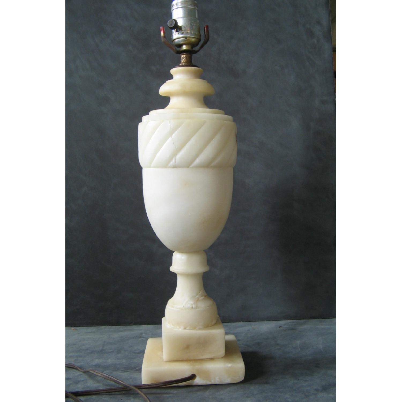 Vintage Alabaster Classical Urn-Shaped Table Lamp - image-1