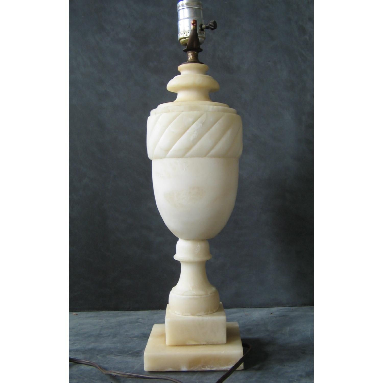 Vintage Alabaster Classical Urn-Shaped Table Lamp - image-3