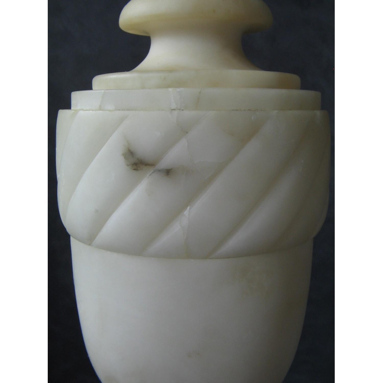 Vintage Alabaster Classical Urn-Shaped Table Lamp - image-5