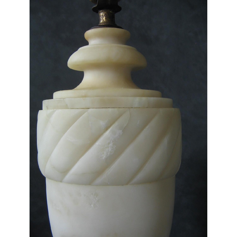 Vintage Alabaster Classical Urn-Shaped Table Lamp - image-6
