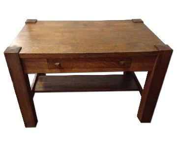 Monarch Furniture Mission Oak Library Table