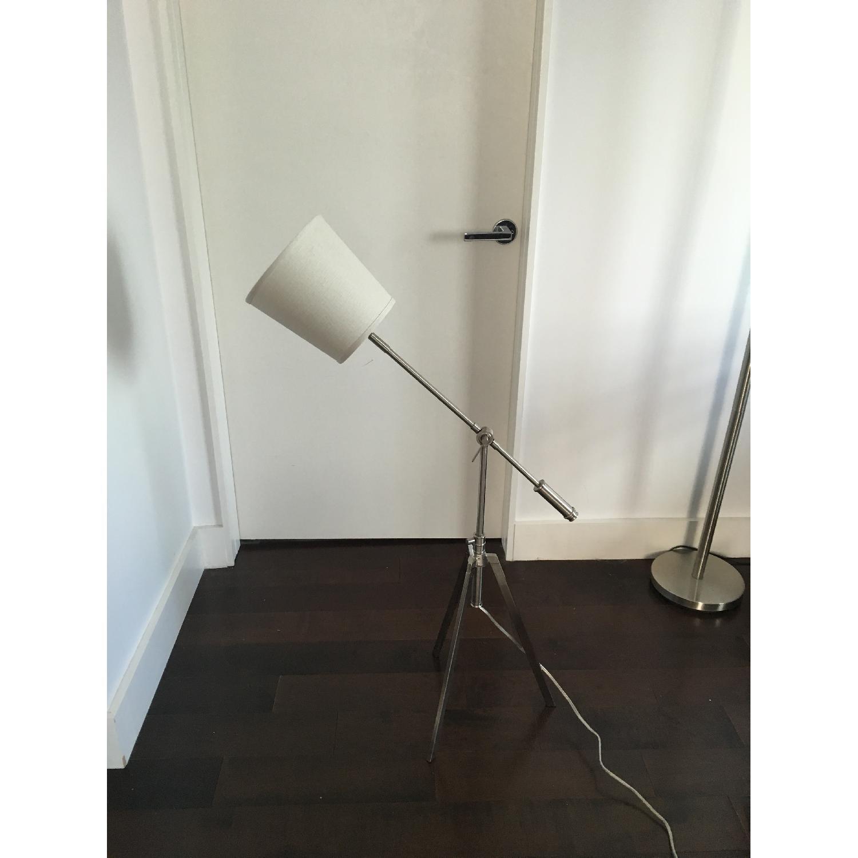 Silver Tone Adjustable Floor Lamp - image-2