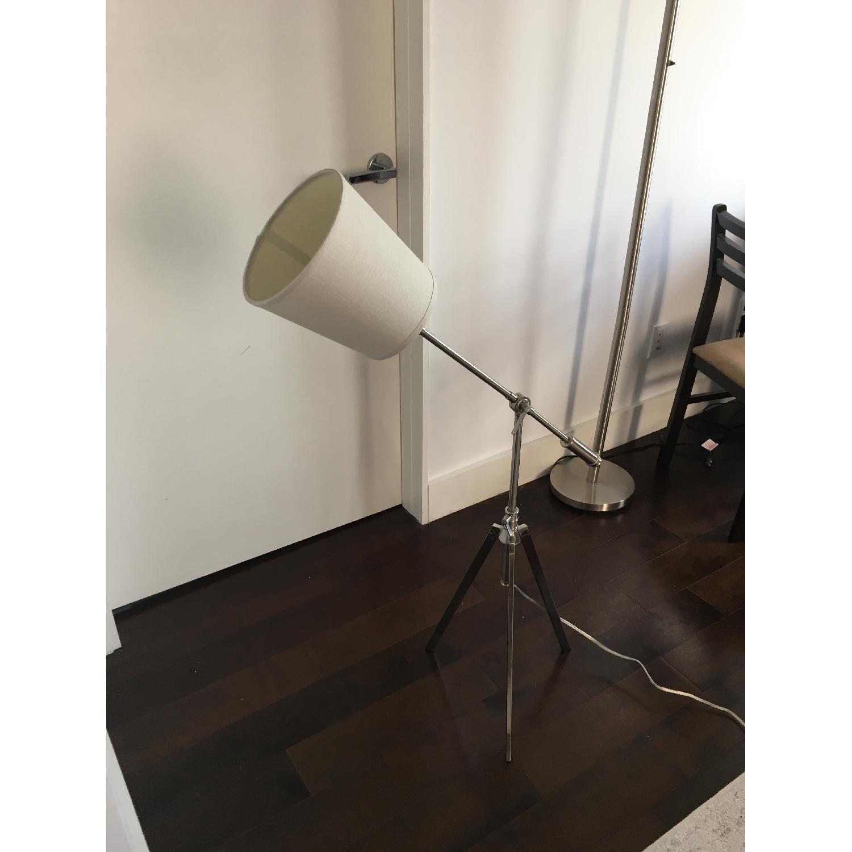 Silver Tone Adjustable Floor Lamp - image-3