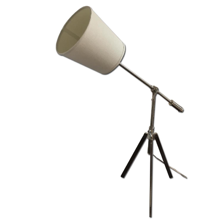 Silver Tone Adjustable Floor Lamp - image-0