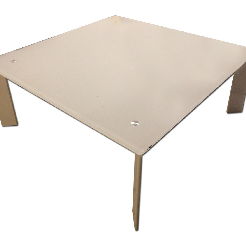 Ikea White Coffee Table - image-0
