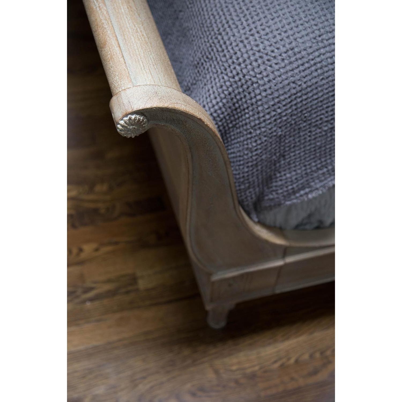 Restoration Hardware Empire Rosette Sleigh Bed w/ Footboard - image-4