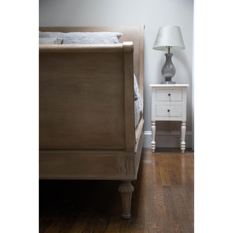 Restoration Hardware Empire Rosette Sleigh Bed w/ Footboard - image-5