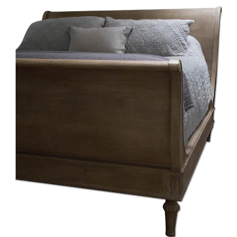 Restoration Hardware Empire Rosette Sleigh Bed w/ Footboard - image-0