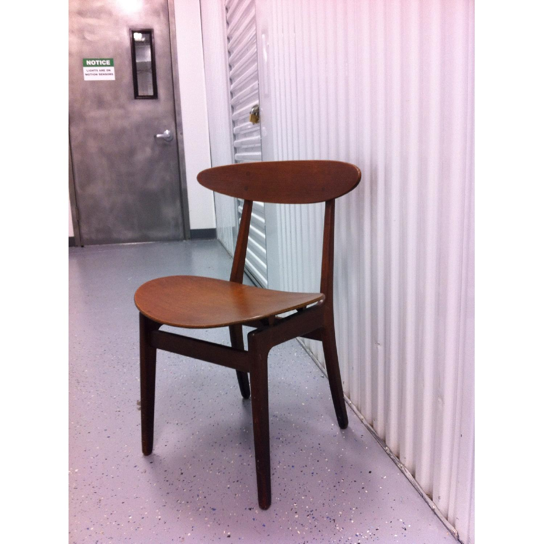 Vintage Mid-Century Danish Modern Klismos Chair by Vilhelm Wohlert for Soborg Mobler - image-1