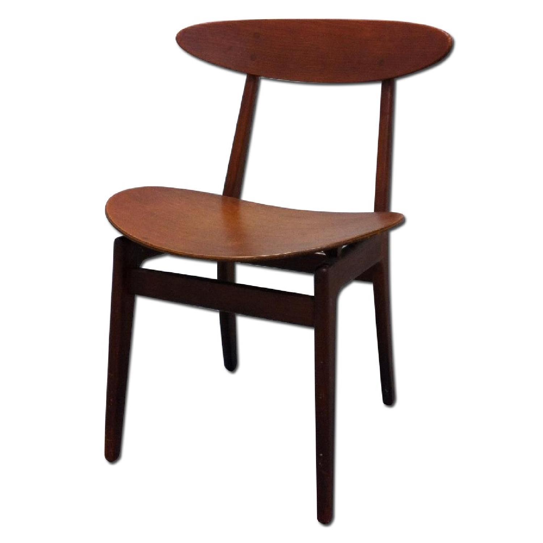 Vintage Mid-Century Danish Modern Klismos Chair by Vilhelm Wohlert for Soborg Mobler - image-0