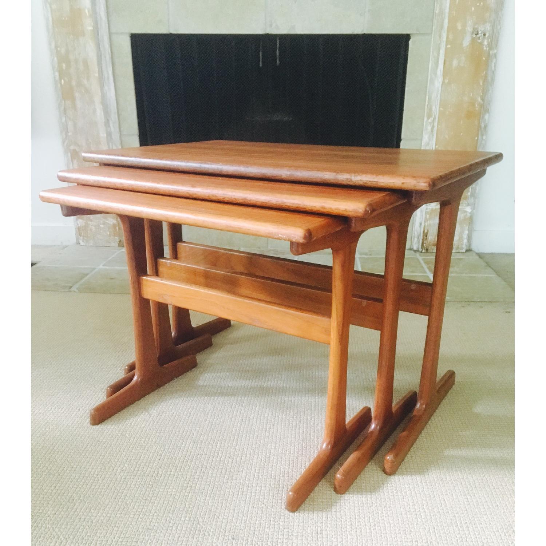 Mid Century Modern Teak Nesting Tables - image-1